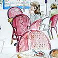 Cafe at rue Cler montage