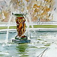 Sailboat and fountain, Luxembourg Gardens