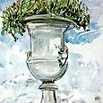 Urn with crysanthemums