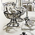 kitchen scene in pen and ink