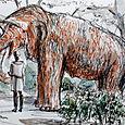 Mammoth at Parc de la Cuitadella, Barcelona