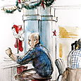 A diner Christmas