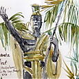 Statue of Kamahameha the Great, Hilo, Hawaii