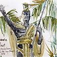 Statue of Kamahameha the Great, Hilo, Hawaii