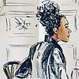 Girl at Bergamote, Paris