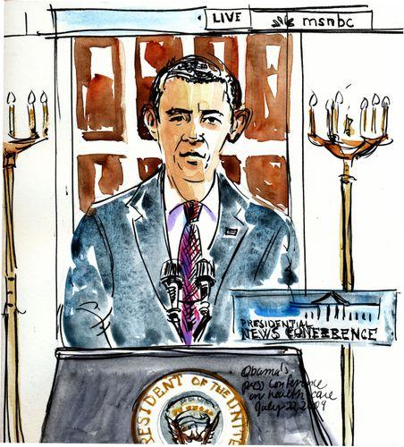 Obama-presser