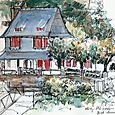 Brittany, Pont-Aven house