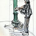 Portland street musician