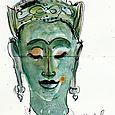 Thai Buddha head, De Young Museum