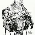 Berlin: Cecelia drawing