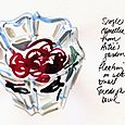 Journal: camellia in small bowl
