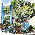 J C Raulston Arboretum illustrations: blue corner