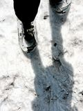 My-feet-on-the-path;-snowshoes