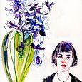 Kate and hyacinth, Inktense pencils