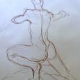 "Figure drawing,18"" x 24"""