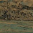 Alaska: Mountains blue and brown