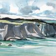 Wales: coastal path towards St. Non's well