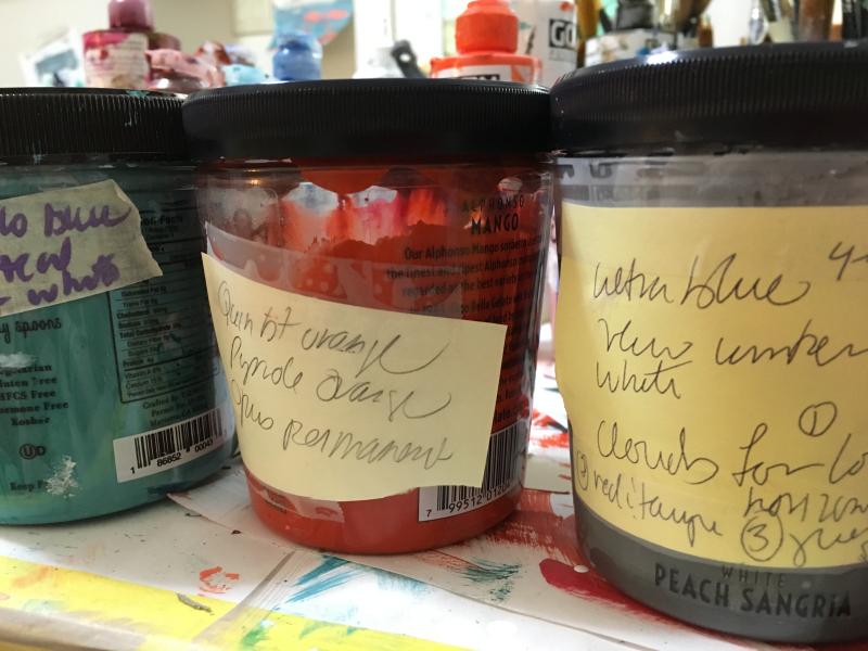 Laura paint mixes