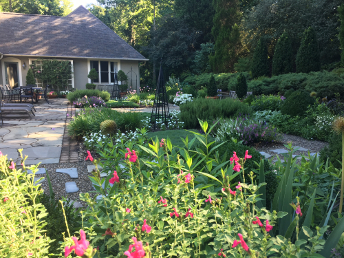 Garden am with all flowers june