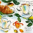 Italy: cappuccino and brioche