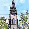 Wesley-Chalmers Church spire, Quebec City