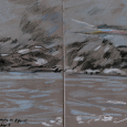 Norway, drawn from a moving boat