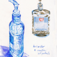 Hand sanitizers as self portraits