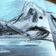 Norway, quick sketch from boat