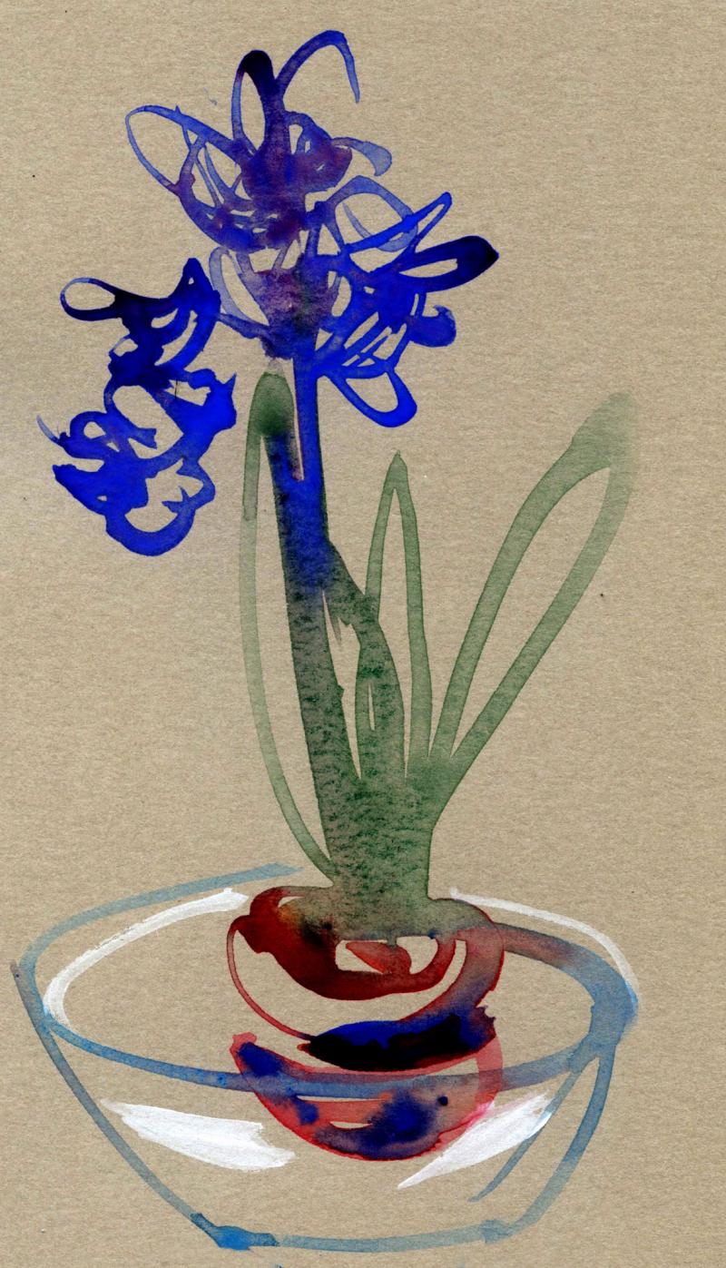 Toned pastel paper iris
