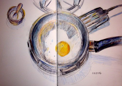 The famous fried egg