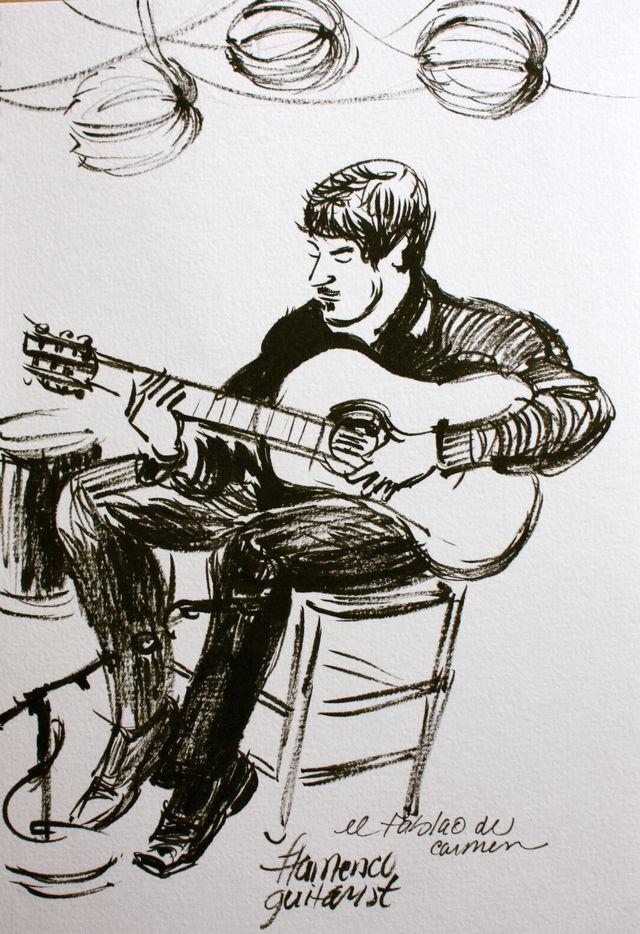 Flamenco guitarist, Barcelona