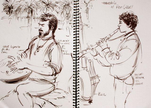 Musicians at Parc Güell, Barcelona