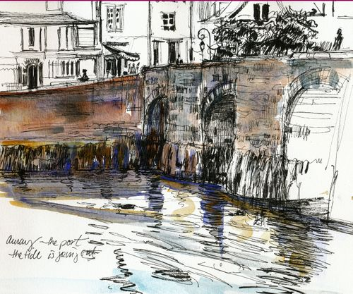 Bridge in Auray, Brittany