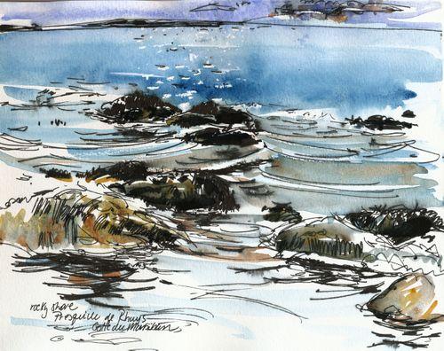 Breton rocky beach