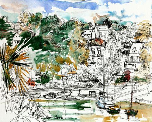 Pont-Aven, Brittany, riverside