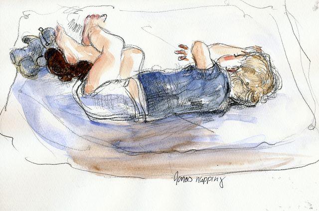 Jonas napping, summer 2010