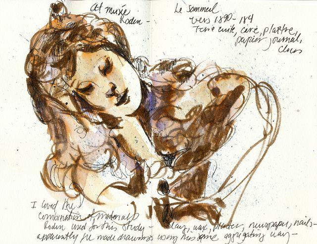 Rodin bust study: le Sommeil