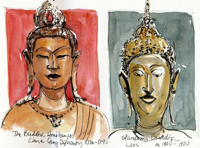 San Francisco, two Buddhas