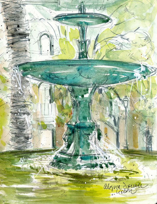 Lisbon, Alegria Square fountain
