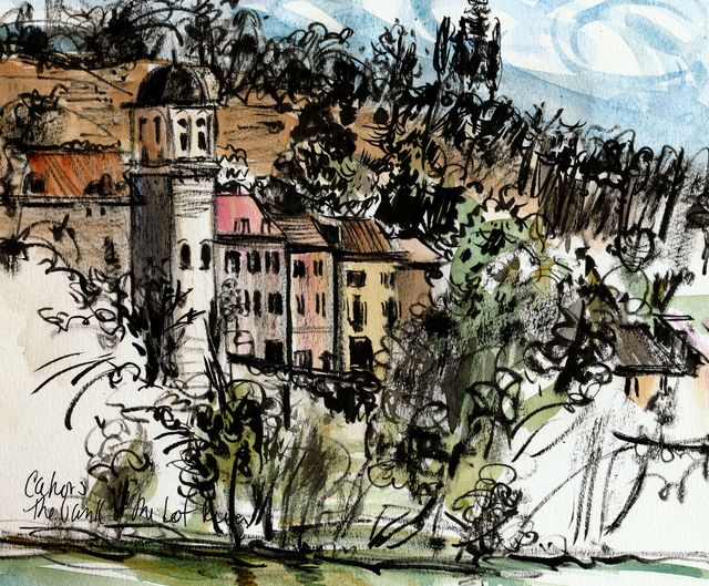 Cahors, view of Lot River
