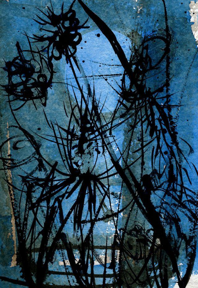 Pondshiner moon and weeds
