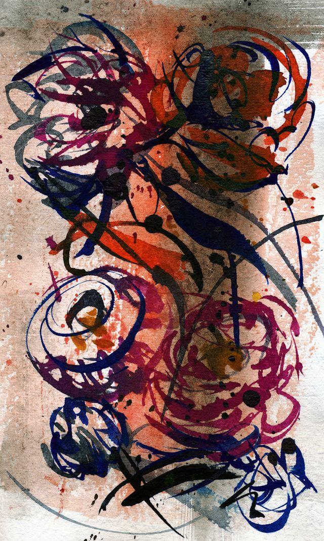 Red, blue spirals