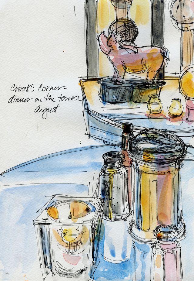 Crook's Corner, tabletop