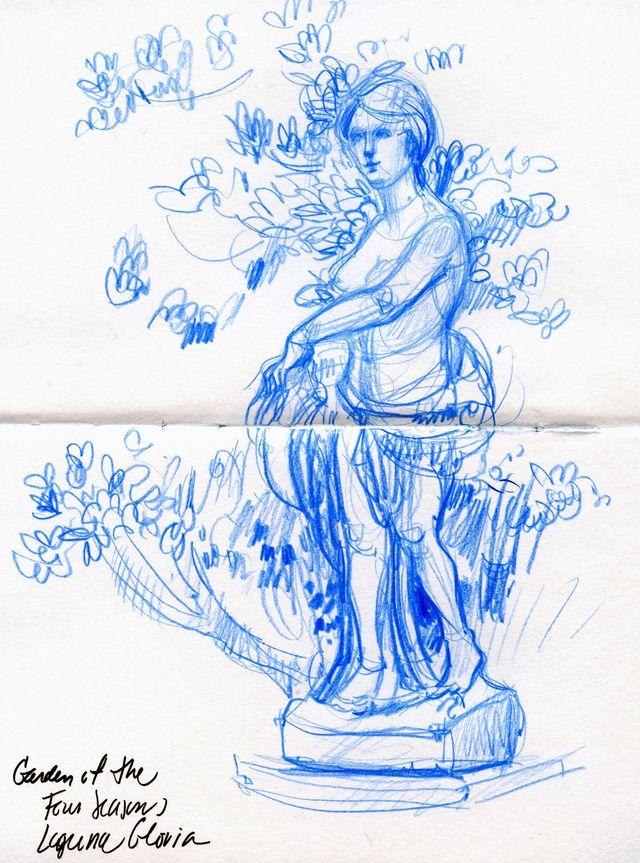 Austin: garden figure, Laguna Gloria