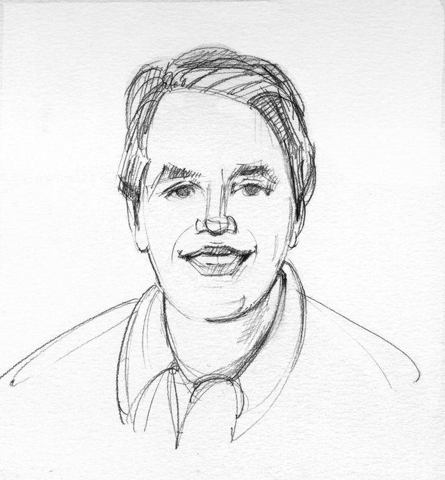pencil portrait for Walter Magazine 9/2013