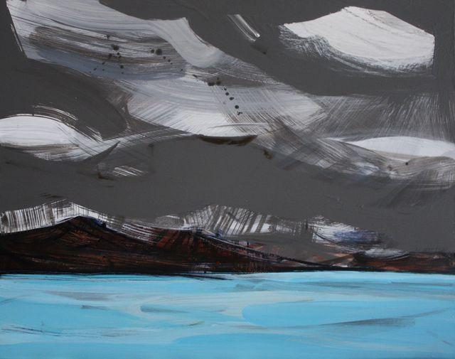 Iceland paintings- blue lagoon