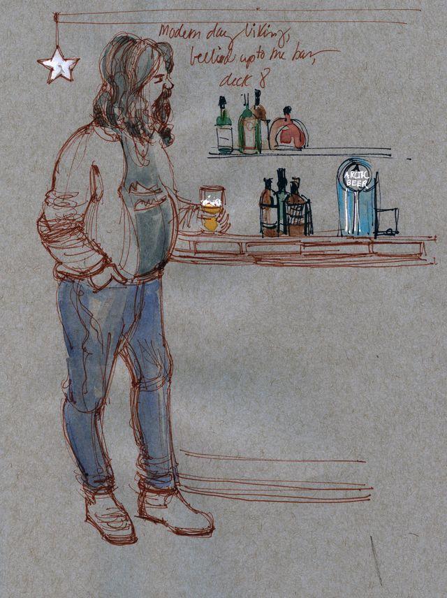 Norway: Viking at the bar