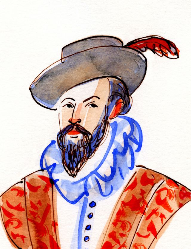 Sir Walter Raleigh cover illustration
