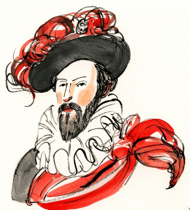 Sir W in red and black
