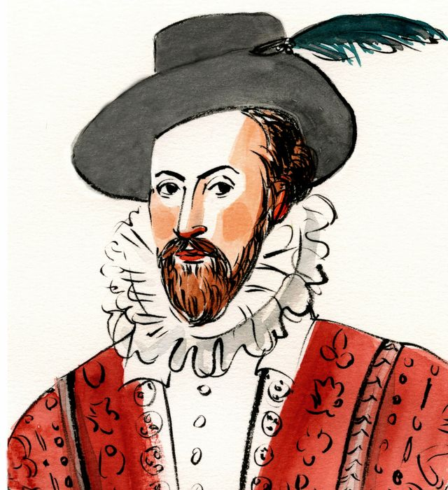 Sir W with turquoise feather
